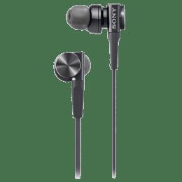 Sony In-Ear Wired Earphones with Mic (MDR-XB75AP, Black)_1