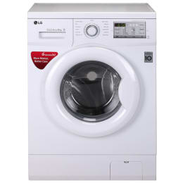 LG 6 kg Fully Automatic Front Loading Washing Machine (FH0H3NDNL02, White)_1