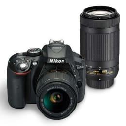Nikon 24.2 MP DSLR Camera Body with 18 - 55 mm & 70 - 300 mm Lens (D5300, Black)_1