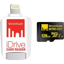 Strontium Nitro iDrive 128 GB Card Reader with Strontium Nitro UHS-I Class 10 Memory Card (SRN128GTFU1D, White)_1