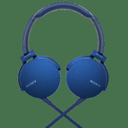 Sony MDR XB550AP On Ear Headphones with Mic (Blue)_1
