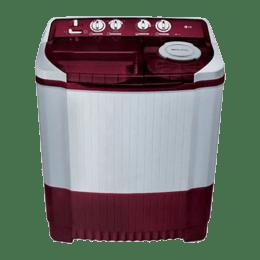 LG 7.5 kg Semi-Automatic Top Loading Washing Machine (P8541R3SA, Burgundy)_1