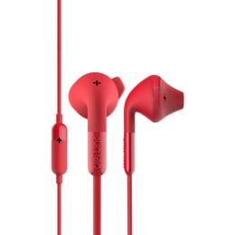 Defunc Plus Hybrid In-Ear Wired Earphones with Mic (Red)_1