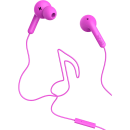 Defunc Go Music In-Ear Wired Earphones with Mic (Pink)_1
