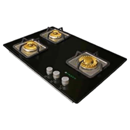 Faber 3 Burner Toughened Glass with Stainless Steel Built-in Gas Hob (Auto Ignition, Hgg 653 CRS BR CIHT, Black)_1