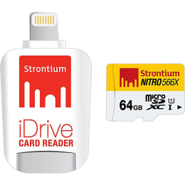 Strontium Nitro iDrive 64GB Memory Card (SRN64GTFU1D, White)_1