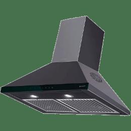 Faber Topaz 3D T2S2 BK TC LTW 60 1095 m³/hr 60cm Wall Mount Chimney (3 Layer Baffle Filter, 110.0439.768, Black)_1