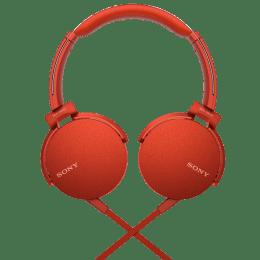 Sony MDR XB550AP On Ear Headphones (Red)_1