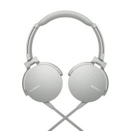 Sony MDR XB550AP On Ear Headphones with Mic (White)_1