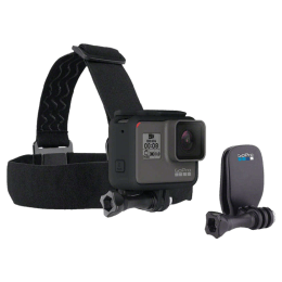 Go Pro Head Strap and Quick Clip Camera Mount (ACHOM-001, Black)_1