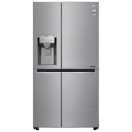 LG 668 L Frost Free Side-by-Side Refrigerator, Inverter Compressor(GC-L247CLAV.APZQEBN, Shiny Steel)_1