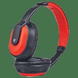 iBall MusiTap Bluetooth Headphones (Black Red)_1