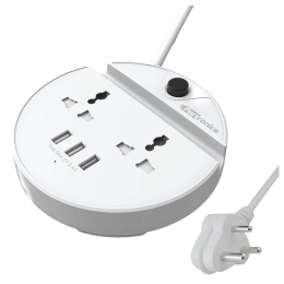 Portronics Power Bun Surge Protector (POR 739, White)_1