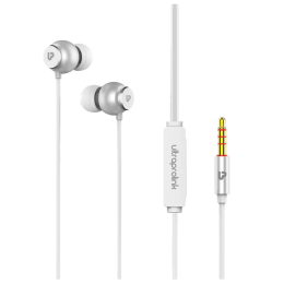 Ultraprolink Mobass Plus In-Ear Wired Earphones with Mic (UM1017, Silver)_1