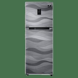 Samsung 314 Litres 2 Star Inverter Double Door Refrigerator (Curd Maestro, RT34T4632NV/HL, Wave Steel)_1