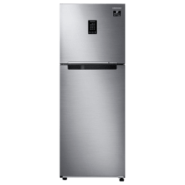 Samsung 336 Litres 2 Star Frost Free Inverter Double Door Refrigerator (Curd Maestro, RT37T4632SL/HL, Real Stainless)_1