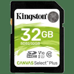 Kingston Canvas Select Plus 32GB Class 10 SDHC Memory Card (SDS2/32GBIN, Black)_1