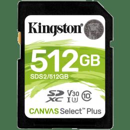 Kingston Canvas Select Plus 512GB Class 10 SDHC Memory Card (SDS2/512GBIN, Black)_1