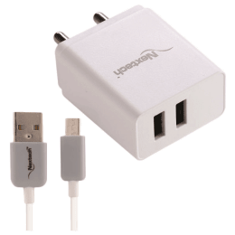 Nextech 2.4 Ampere Dual USB Wall Charger with Type C Cable_1