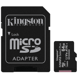 Kingston Canvas Select Plus 64 GB microSD Card with Adapter (SDCS2/64GBIN, Black)_1