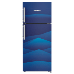 Liebherr 265 Litres 3 Star Frost Free Inverter Double Door Refrigerator (Stabilizer Free Operation, TCb 2620, Blue Landscape)_1
