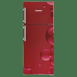 Liebherr 265 Litres 3 Star Frost Free Inverter Double Door Refrigerator (Door Alarm, TCr 2620, Red Bubbles)_1