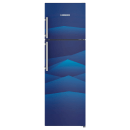 Liebherr 346 Litres 3 Star Frost Free Inverter Double Door Refrigerator (Central Power Cooling, TCb 3520, Blue Landscape)_1