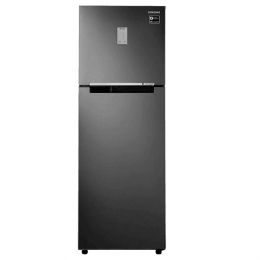 Samsung 275 Litres 3 Star Frost Free Inverter Double Door Refrigerator (Tempered Glass Shelves, RT30T3423BS/HL, Black Inox)_1
