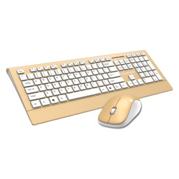 Lapcare 1200 DPI Smartoo Wireless Keyboard & Mouse Combo (L999, Gold)_1