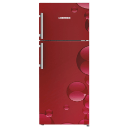 Liebherr 265 Litres 3 Star Frost Free Inverter Double Door Refrigerator (Spice Boxes, TCr 2640, Red Bubbles)_1