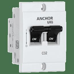 Anchor Uno Mini 16A DP - C Type MCB (98248, White)_1