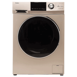 Haier 8 kg Fully Automatic Front Loading Washing Machine (HW80-BD12756NZP, Champaign Gold)_1