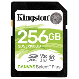 Kingston Canvas Select Plus 256GB Class 10 UHS-I SDXC Card (100 MB/s Read Speed, SDS2/256GBIN, Black)_1