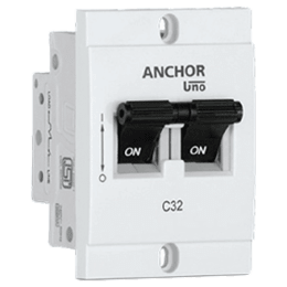 Anchor Uno Mini 32A DP - C Type MCB (98251, White)_1