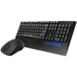 Rapoo 1000 DPI Wireless Optical Keyboard & Mouse Combo (X1960, Black)_1