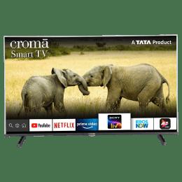 Croma 109.2cm (43 Inch) Full HD LED Smart TV (Dual Box Speakers, CREL7361, Black)_1