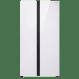Samsung 700 L Side-by-Side Inverter Refrigerator (RS72R50111L/TL, Classy White)_1