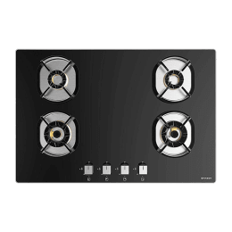 Faber 4 Burner Tufted Glass Built-in Gas Hob (Auto Ignition, Nexus HT784 CRS BR CI, Black)_1
