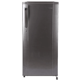 Croma 190 L 2 Star Direct Cool Single Door Refrigerator (CRAR0216, Brushline Silver)_1