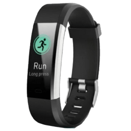 Miracle Alpha Lite Bracelet Fitness Tracker (Heart Rate Monitor, ALPHA2BAND, Black)_1
