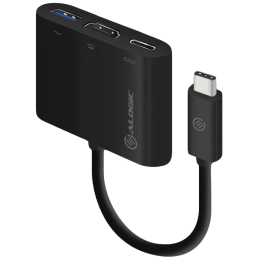 ALOGIC USB 3.0 (Type-C) Multiport Adapter with HDMI (Type-A)/USB 3.0 (Type C) Power Delivery (MP-UCHDCH, Black)_1