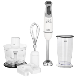 Black & Decker 600 Watts Hand Blender (3 Attachments, Variable Speed Control, BXBL6002IN, White)_1