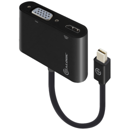 ALOGIC 2-in-1 Mini Display Port to HDMI (Type-A)/VGA Cable (MDP-VGHD4K-ADP, Black)_1