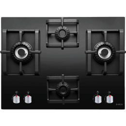 Elica 4 Burner Black Glass Built-in Gas Hob (Auto Ignition, Swirl Pro MFC 4B 70 DX, Black)_1