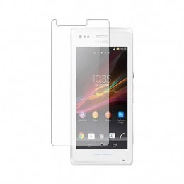 Scrik Tempered Glass Screen Protector for Sony Xperia C3 (Transparent)_1