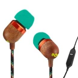 Marley Smile Jamaica In-Ear Wired Earphones with Mic (EM-JE041-RA, Rasta Green)_1