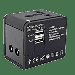 Croma Universal Travel Adaptor Charging Adapter (CH-158, Black)_1