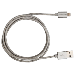 Stuffcool 1.2 Meter USB (Type-A) to Lightning Syncing/Charging USB Cable (For Apple Devices, LGFNS-SIL, Silver)_1