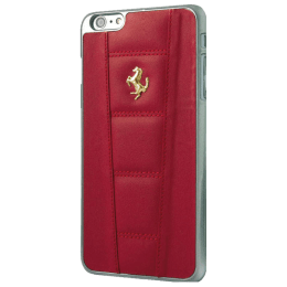 Ferrari PU Leather Hard Back Case Cover for Apple iPhone 5/5S (SW-048, Red)_1
