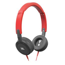 JBL T300A On Ear Headphone (Red/Grey)_1